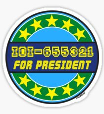 IOI-655321 FOR PRESIDENT Sticker
