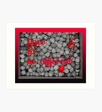 Dare To Be Different - Box Of Apples Art Print