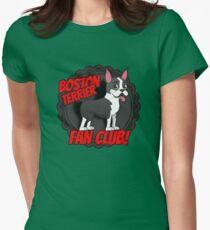 Boston Terrier Fan Club Women's Fitted T-Shirt