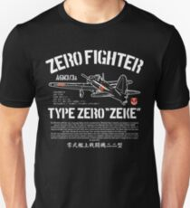 A6M Zero Zeke Imperial Japanese Nay Air Service Fighter Aircraft Plane World War 2 T-Shirt