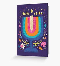 Happy Hanukkah greeting card Greeting Card