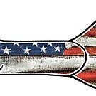 Bone Fish American Flag Fishing  by Statepallets