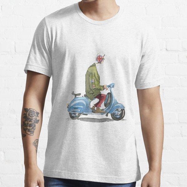 Motocicleta vespa casual Camiseta esencial
