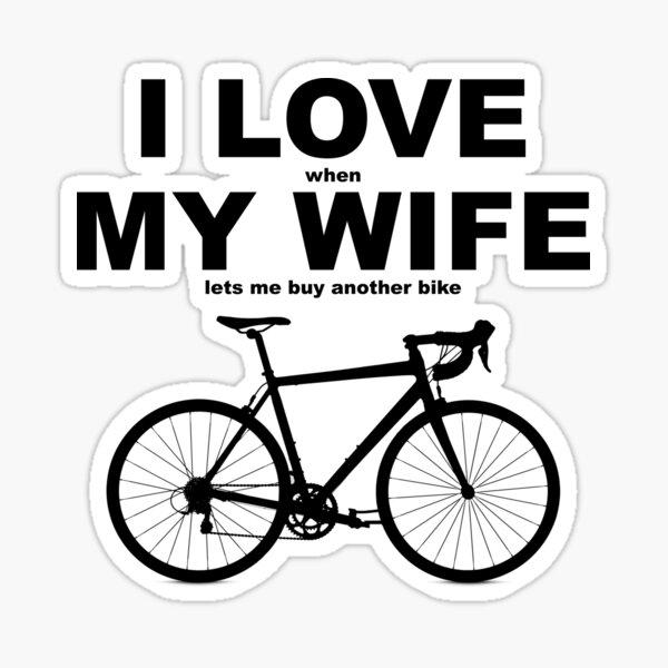 I LOVE MY WIFE* Sticker