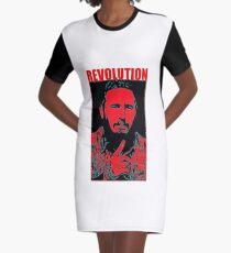 Fidel Castro art Graphic T-Shirt Dress