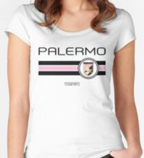 Serie A - Palermo (Home Pink) Women's Fitted Scoop T-Shirt