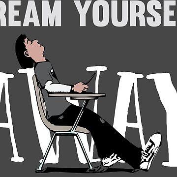 Funny Cool Sleeping Student School Design with Pink Floyd Lyrics  by Sago-Design