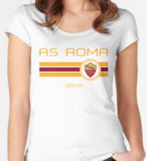 Serie A - AS Roma (Home Dark Red) Women's Fitted Scoop T-Shirt