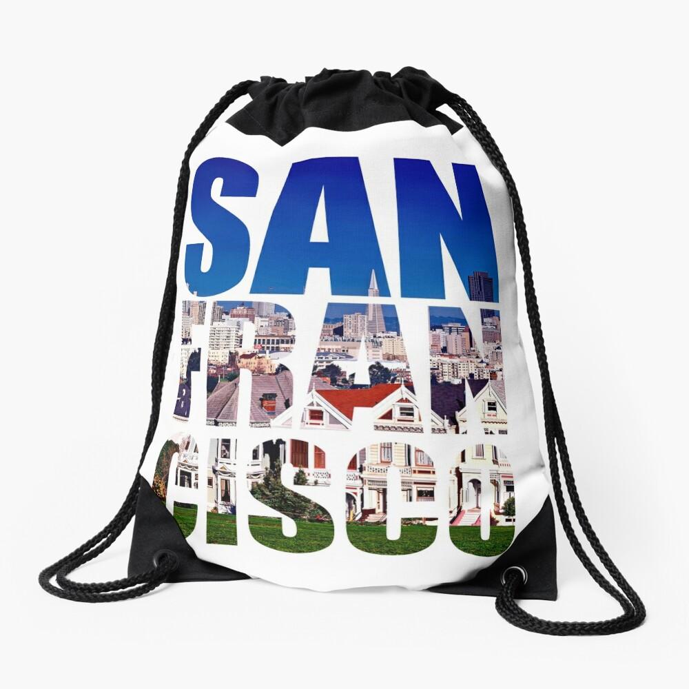 San Francisco, Painted Ladies Drawstring Bag