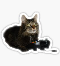 gamer cat Sticker