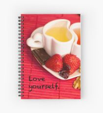 Love Yourself - Love, Self, Red, Sweet Moment Spiral Notebook