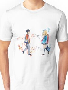 The sound of love - Shigatsu wa kimi no uso Unisex T-Shirt