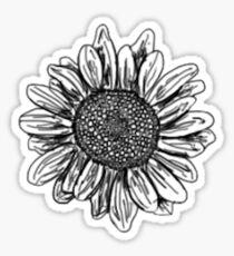 Sunflower sketch Sticker