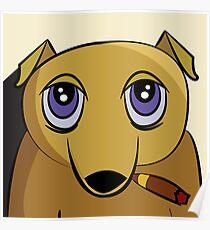 Cigar Dog Poster