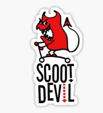 Scoot Devil (red/black) Sticker