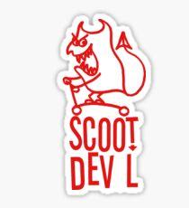 Scoot Devil (red) Sticker