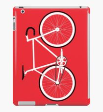Red Fixed Gear Road Bike iPad Case/Skin