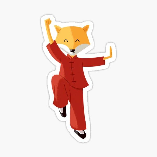 Mr. Fox knows Kung fu Sticker