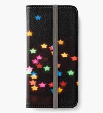 Abstract Bokeh shapes stars iPhone Wallet