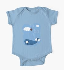 Whale and petunias One Piece - Short Sleeve