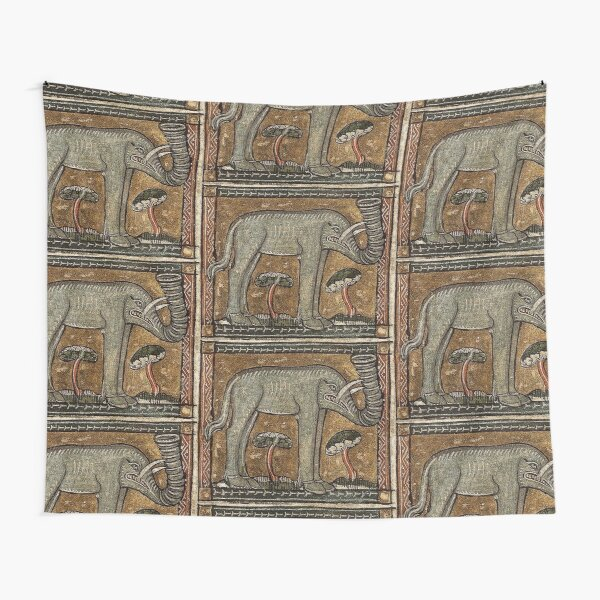 Angry Elephant Tapestry