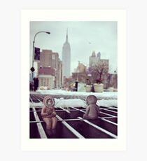 lonely eskimos - empire state building Art Print