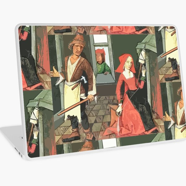 Man With Bat, Woman With Spinal, Neighbor In Window Laptop Skin