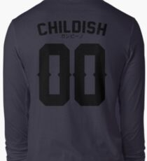 Childish Jersey v2: Black Long Sleeve T-Shirt
