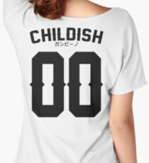 Childish Jersey v2: Black Women's Relaxed Fit T-Shirt