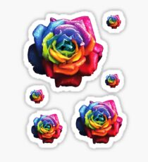 Rainbow Dream Rose Sticker