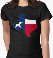 Texas | Flag State | SteezeFactory.com Women's Fitted T-Shirt