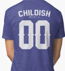 Childish Jersey v2: White Tri-blend T-Shirt