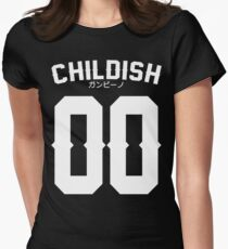 Childish Jersey v2: White Women's Fitted T-Shirt