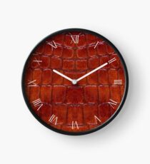 Rusty snake leather cloth imitation Clock