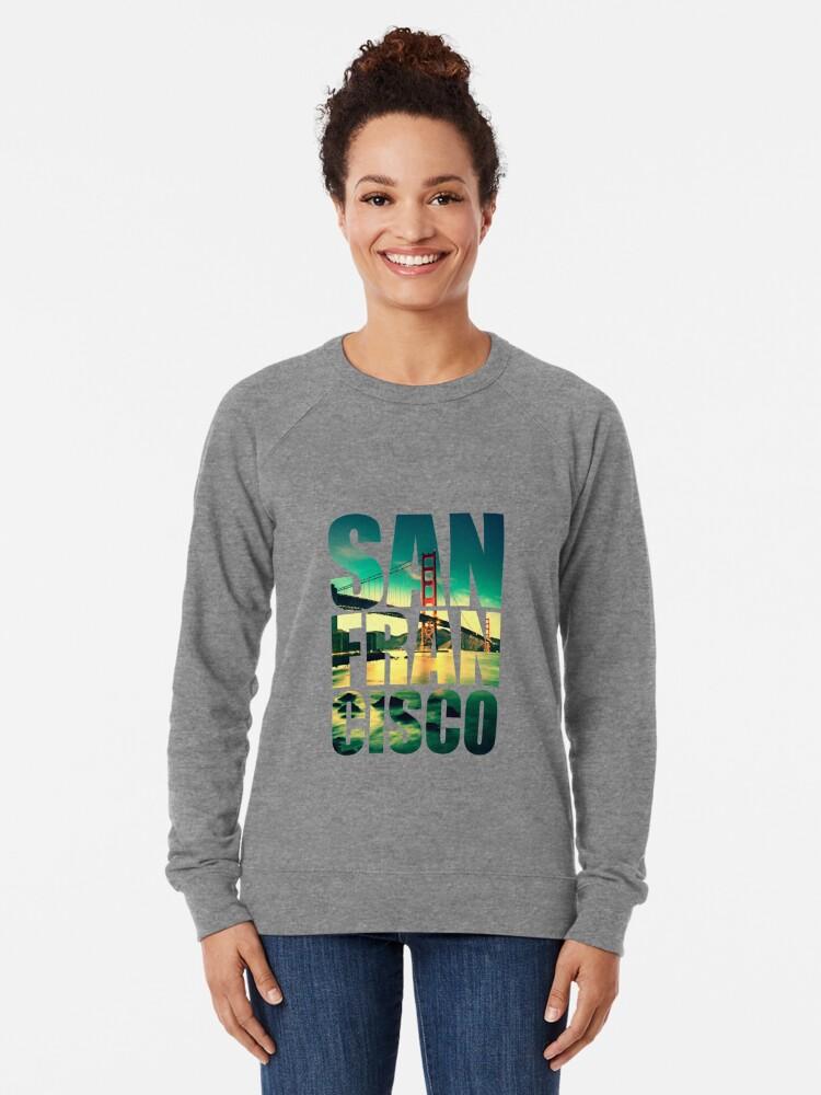 Alternate view of San Francisco, Golden Gate Lightweight Sweatshirt