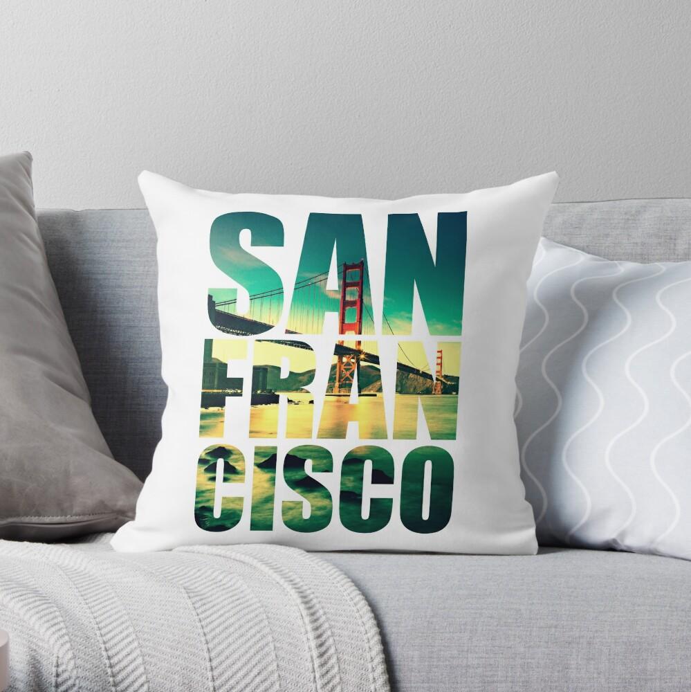 San Francisco, Golden Gate Throw Pillow