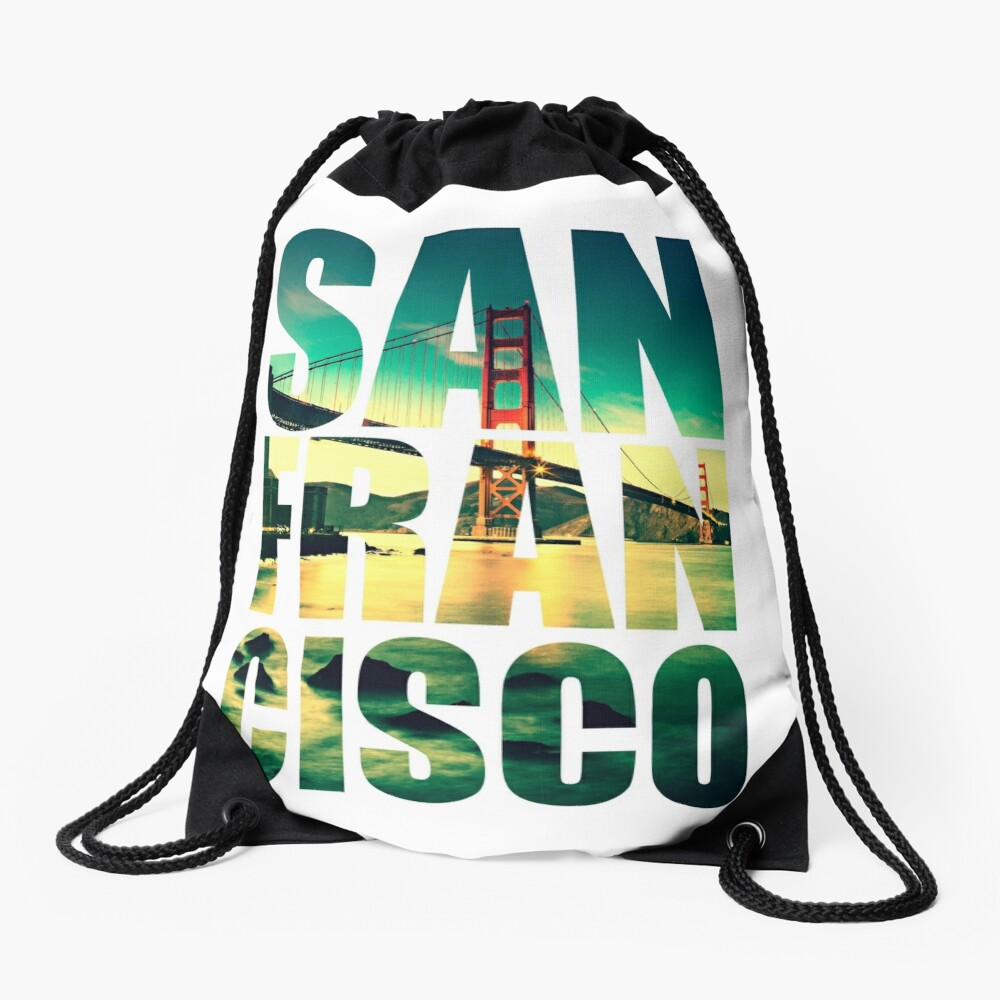 San Francisco, Golden Gate Drawstring Bag