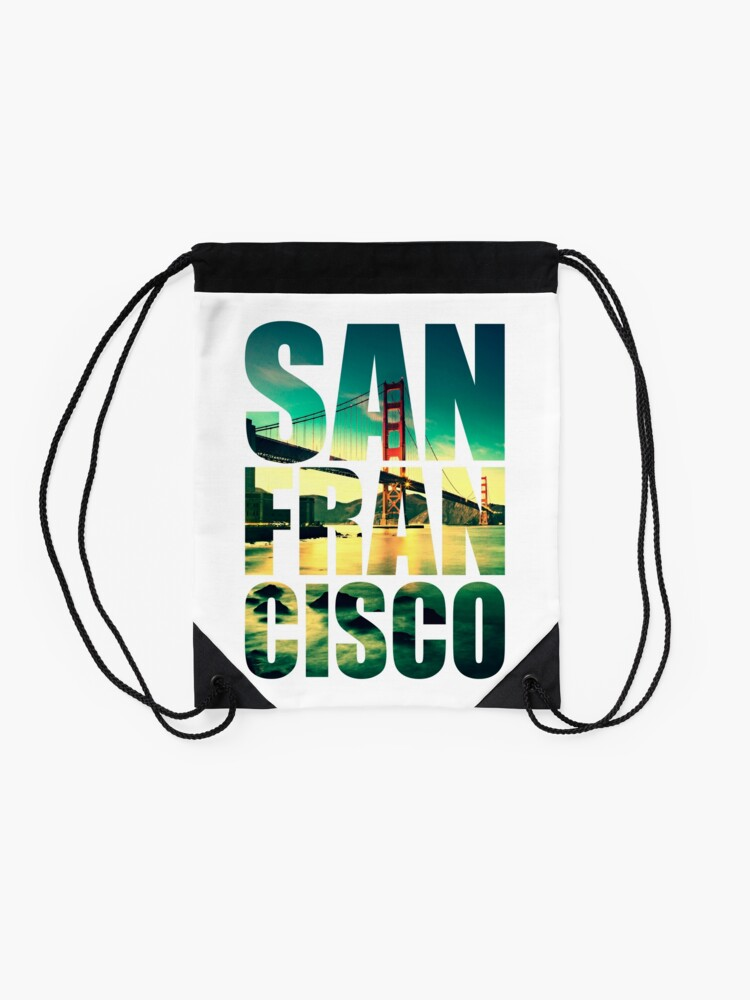 Alternate view of San Francisco, Golden Gate Drawstring Bag