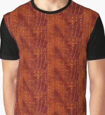 Rust colored snake leather cloth imitation Graphic T-Shirt