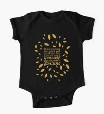 "If you work... ""Jim Rohn"" Life Inspirational Quote (Creative) Kids Clothes"