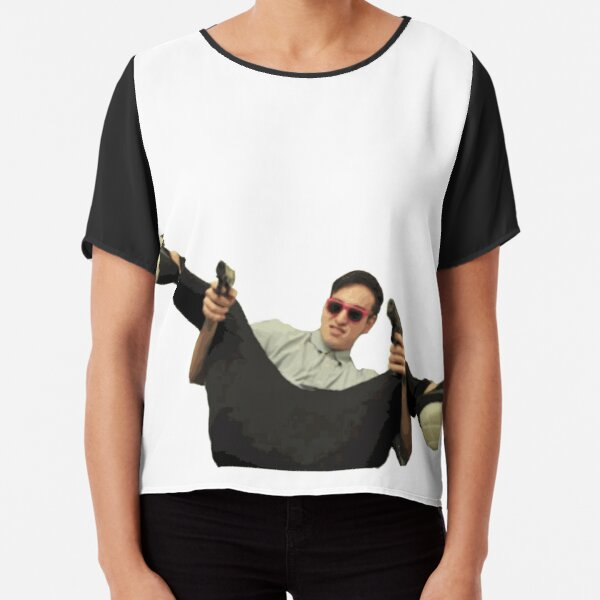 Filthy Frank Guns Chiffon Top