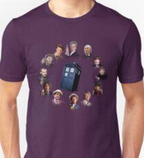 12 (and a bit) Doctors Clock Unisex T-Shirt