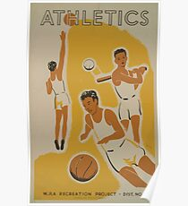 WPA United States Government Work Project Administration Poster 0513 Athletics Poster