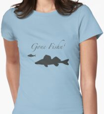 Gone Fishn' Womens Fitted T-Shirt