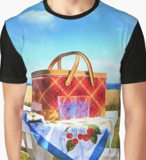 Summer Picnic Acrylic Graphic T-Shirt