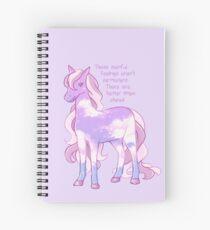 """""""Diese schmerzhaften Gefühle sind nicht permanent"""" Sternenhimmel Pony Spiralblock"""