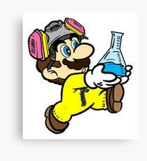 Breaking Bad Super Mario Canvas Print