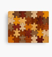 Puzzle Wood Canvas Print