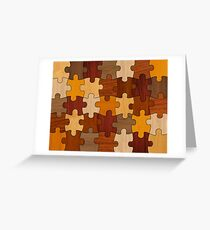 Puzzle Wood Greeting Card