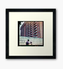 Yahweh - Palermo, Sicily on film. Framed Print